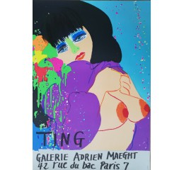 Walasse Ting: Bleue -Galerie Maeght
