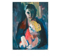Postkort: David Bomberg, The Artists Wife and Baby
